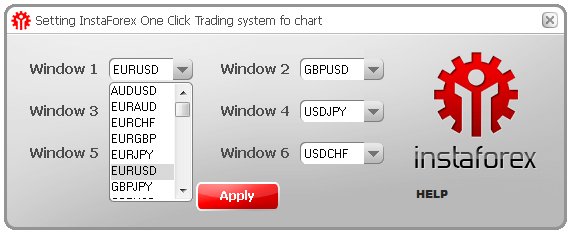One click trading. Screenshot