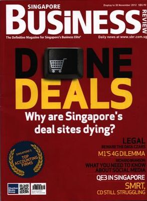 Majalah Singapore Business, November 2012